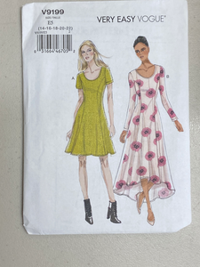 Vogue Very Easy Women's Dresss Pattern V9199