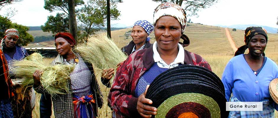 Gone Rural - lutindzi and sisal placemats from Swaziland