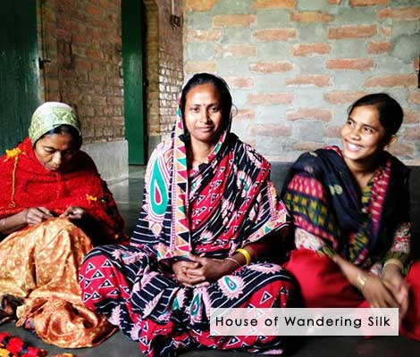 House of Wandering Silk - Indian Kantha Scarves