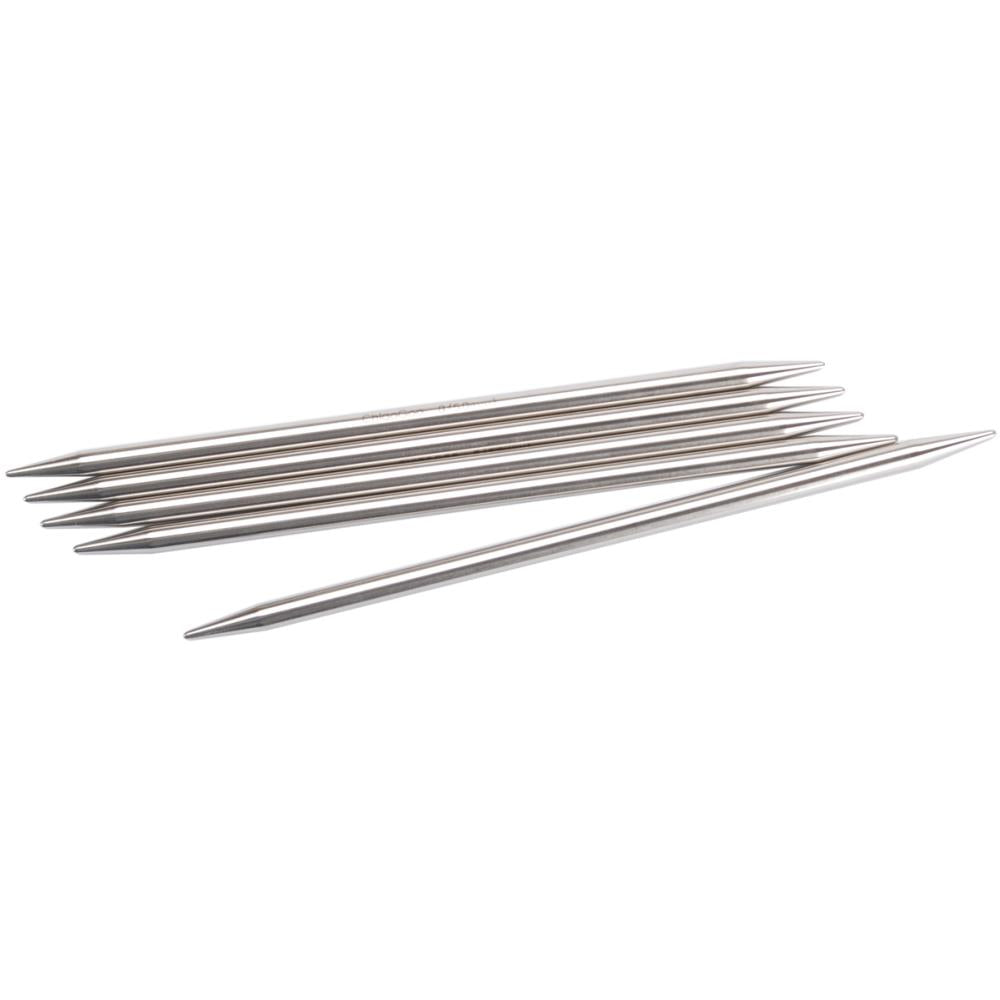 "ChiaoGoo Double Point Stainless Knitting Needles 6"" 5/Pkg"