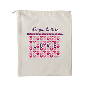 All You Knit is Love - Project Bag
