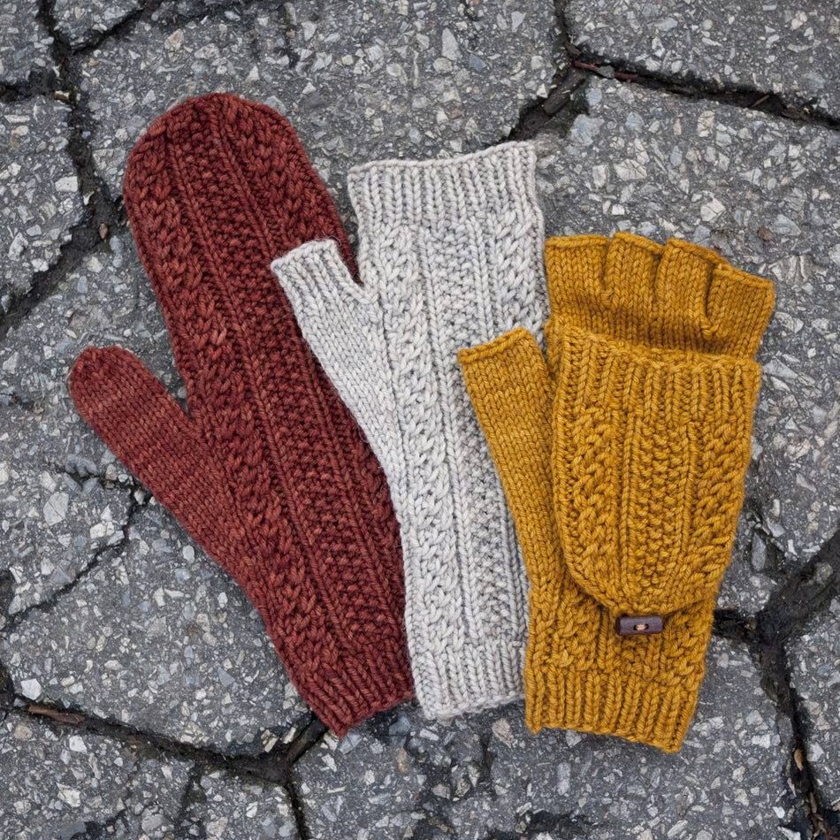 Cabled Dad Mittens Pattern