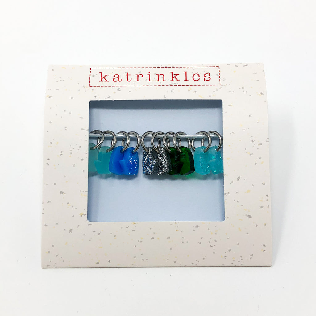 Acrylic Tiny Mitten Stitch Marker Set