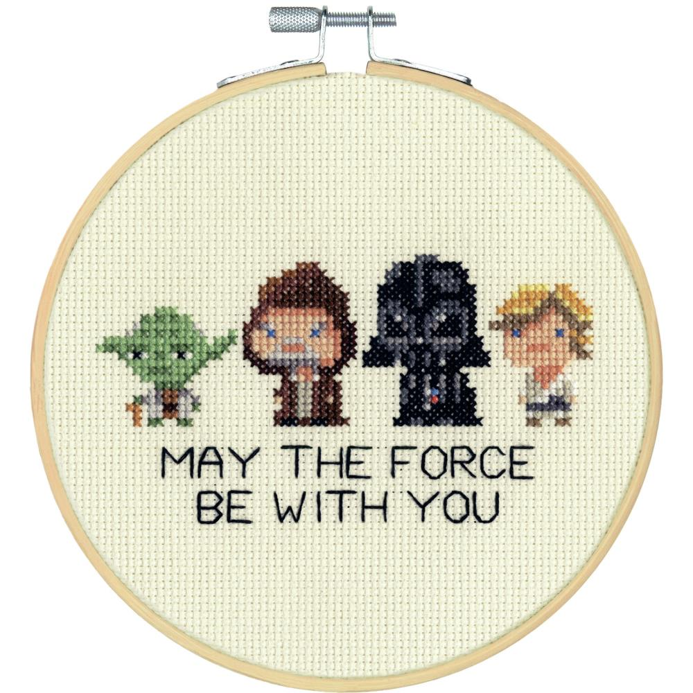 "Star Wars Counted Cross Stitch Kit 6"" Round"
