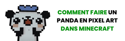 COME FARE UN PANDA IN PIXEL ART IN MINECRAFT