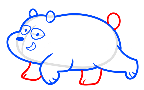 drawing panda we bare bear step 6