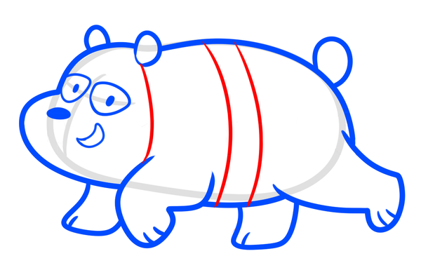 drawing panda we bare bear step 7