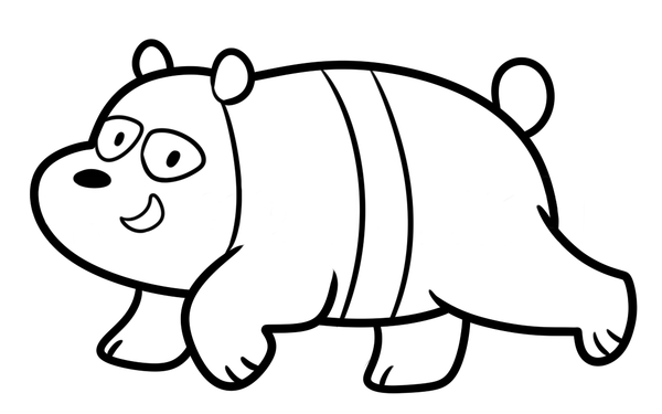 drawing panda we bare bear step 8