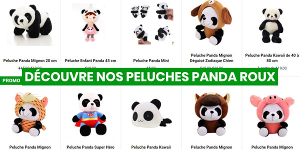 red panda plush panda universe the little panda shop