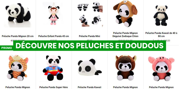 teddy and doudou panda universe panda online shop of panda fans