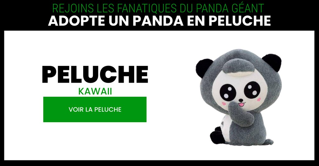 Panda kawaii plush