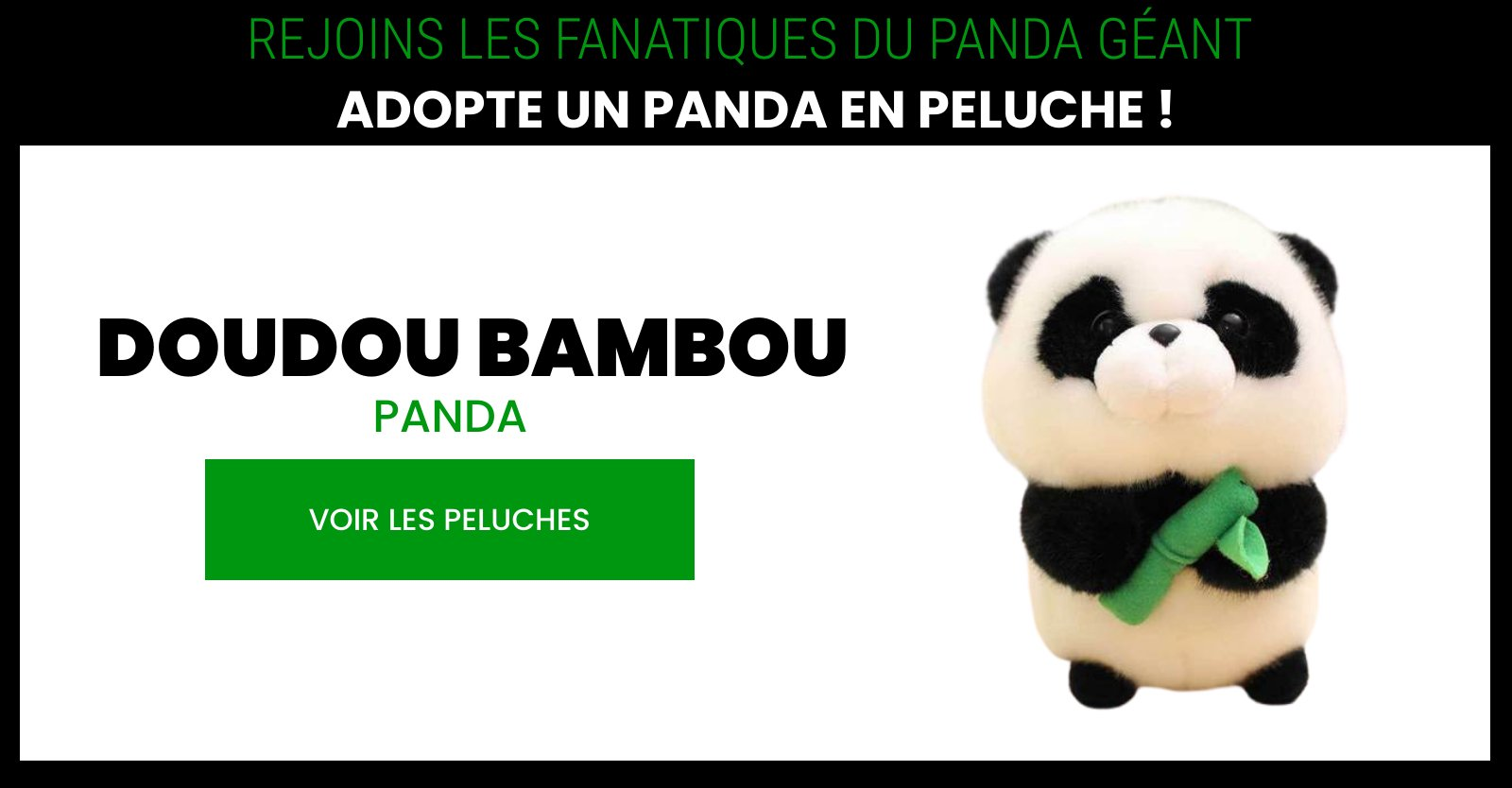 bamboo kawaii panda plush