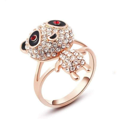 Bague Panda Kawaii Or Rose - Univers de Panda