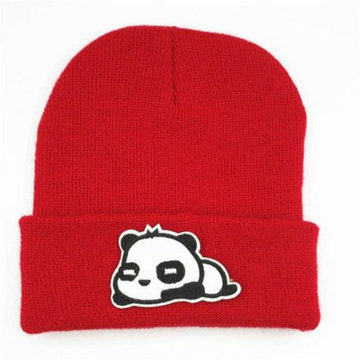 Bonnet Panda Kawaii - Rouge / 6 ans et plus - Univers de