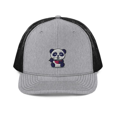 Casquette Panda Kawaii - Heather Grey / Black - Univers de