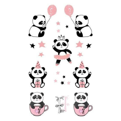 Tatouage Panda Kawaii Adorable Temporaire - Univers de Panda