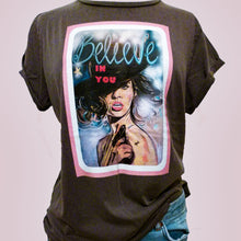 Load image into Gallery viewer, Maeve.with.love.grey.Believe.tee