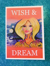 Load image into Gallery viewer, wishanddream.card.blue.background
