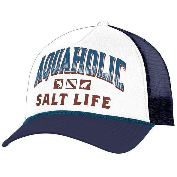 Headwear Salt Life Men's Aquaholic Icons Trucker Mesh Cap - Shop The DocksSalt Life Headwear