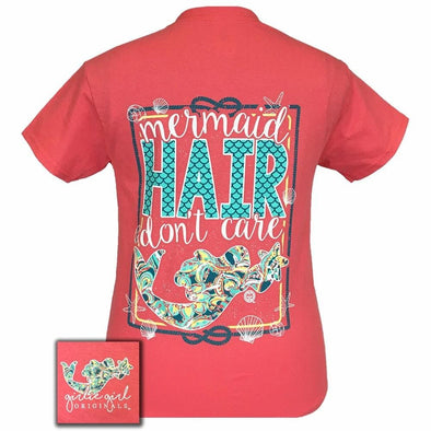 Apparel Girlie Girl Mermaid Hair Short Sleeve Coral Silk Tee Shirt - Shop The DocksGirlie Girl Originals Apparel