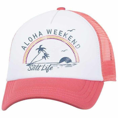 Headwear Salt Life Women's Aloha Weekend Palms Trucker Cap - Shop The DocksSalt Life Headwear