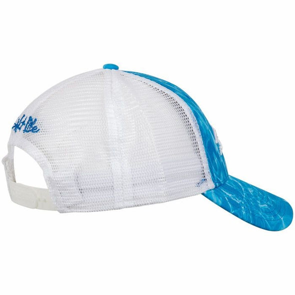 Salt Life Men's Calm Waters Sublimation Structured Blue Cap.