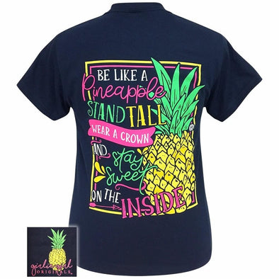 Apparel Girlie Girl Sweet Pineapple Short Sleeve Navy Blue Tee Shirt - Shop The DocksGirlie Girl Originals Apparel