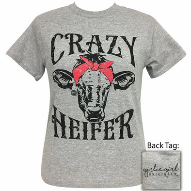 Apparel Girlie Girl Crazy Heifer Short Sleeve Sport Grey Tee Shirt - Shop The DocksGirlie Girl Originals Apparel