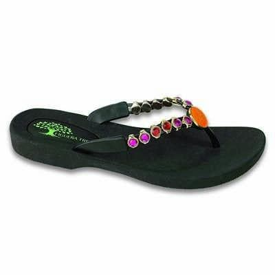 Footwear Figuera Tree Women's Orange Butterfly Beaded Thong Sandal - Shop The DocksFiguera Tree Footwear