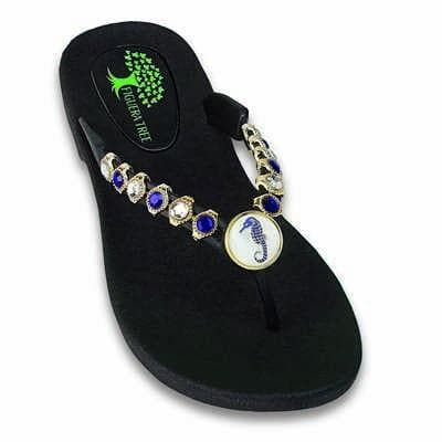 Footwear Figuera Tree Women's Blue Seahorse Beaded Thong Sandal - Shop The DocksFiguera Tree Footwear