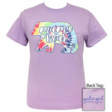 Apparel Girlie Girl Mama Bear Tye Dye Short Sleeve Orchid Tee Shirt - Shop The DocksGirlie Girl Originals Apparel