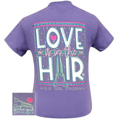 Apparel Girlie Girl Love Is In The Hair Short Sleeve Violet Tee Shirt - Shop The DocksGirlie Girl Originals Apparel