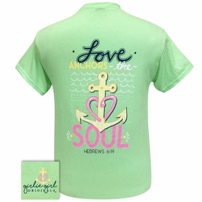 Apparel Girlie Girl Love Anchors Short Sleeve Mint Tee Shirt - Shop The DocksGirlie Girl Originals Apparel