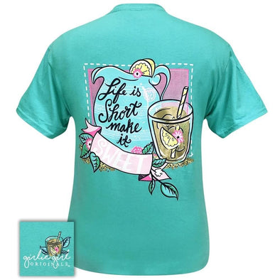Apparel Girlie Girl Life Is Short Short Sleeve Scuba Blue Tee Shirt - Shop The DocksGirlie Girl Originals Apparel