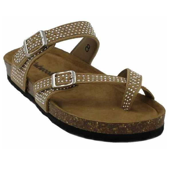 Footwear Outwoods Women's Bork 61 Slide Buckle Rhinestone Sandal - Shop The DocksOutwoods Footwear