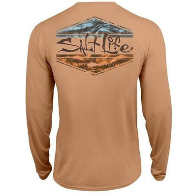 Apparel Salt Life Men's Scheme SLX Performance Long Sleeve Pocket Tee Shirt - Shop The DocksSalt Life Apparel