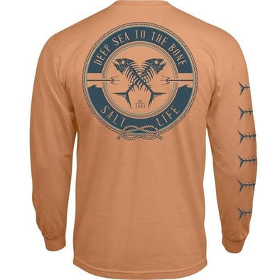 Apparel Salt Life Men's Deep Sea To The Bone Long Sleeve Pocket Tee Shirt - Shop The DocksSalt Life Apparel
