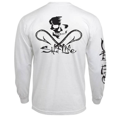 Apparel Salt Life Men's Skull And Hooks Long Sleeve Tee Shirt - Shop The DocksSalt Life Apparel