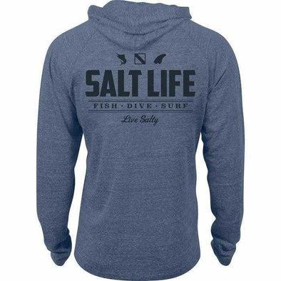 Apparel Salt Life Men's Fish Dive Surf Tri Blend Hoodie - Shop The DocksSalt Life Apparel