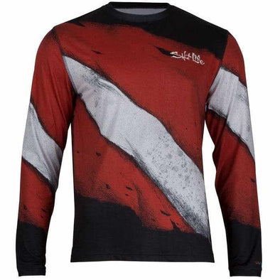 Apparel Salt Life Men's Dive Deep Long Sleeve Performance Shirt - Shop The DocksSalt Life Apparel