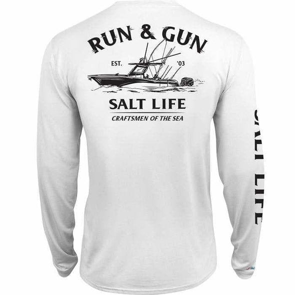 Apparel Salt Life Men's Run And Gun Long Sleeve Performance Shirt - Shop The DocksSalt Life Apparel