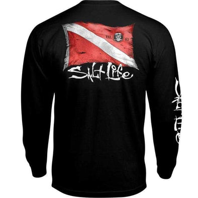 Apparel Salt Life Men's Weathered Dive Flag Long Sleeve Tee Shirt - Shop The DocksSalt Life Apparel
