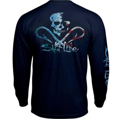 Salt Life Men's Ameriskull Long Sleeve Pocket Tee - Shop The Docks