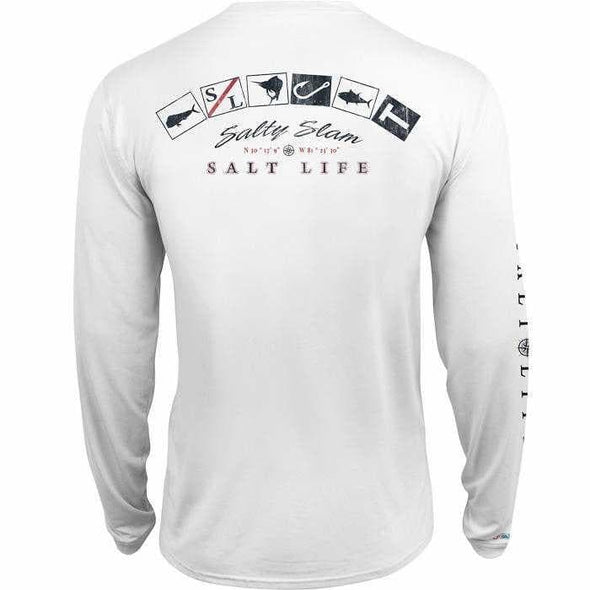 Apparel Salt Life Men's Salty Slam Long Sleeve Performance Shirt - Shop The DocksSalt Life Apparel