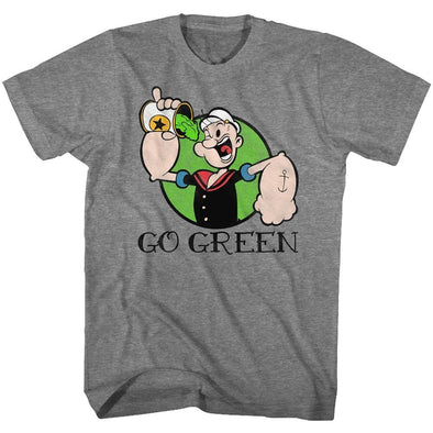 American Classics Popeye Go Green Graphite Heather Tee Shirt