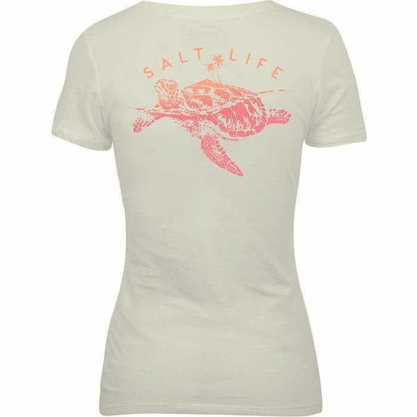 Apparel Salt Life Women's Turtle Island Fitted V Neck Short Sleeve Shirt - Shop The DocksSalt Life Apparel