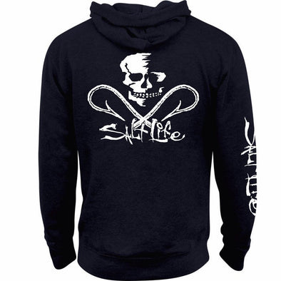 Salt Life Men's Salt Life Skull and Hooks Navy Hoodie.