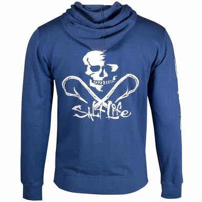 Salt Life Men's Salt Life Skull and Hooks Royal Heather Hoodie.