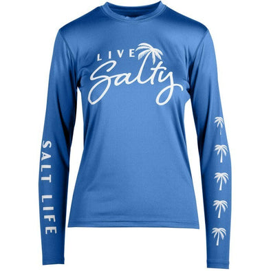 Salt Life Women's Palm Breeze Performance Fitted Long Sleeve Rashguard.