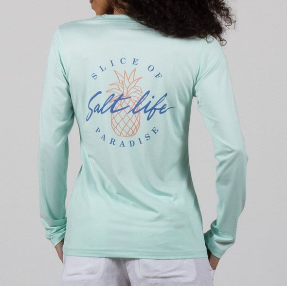 Salt Life Women's Slice of Paradise Long Sleeve Performance Tee.